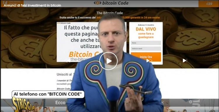 bitcoin code striscia la notizia