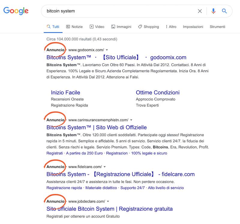 bitcoin system sito ufficiale