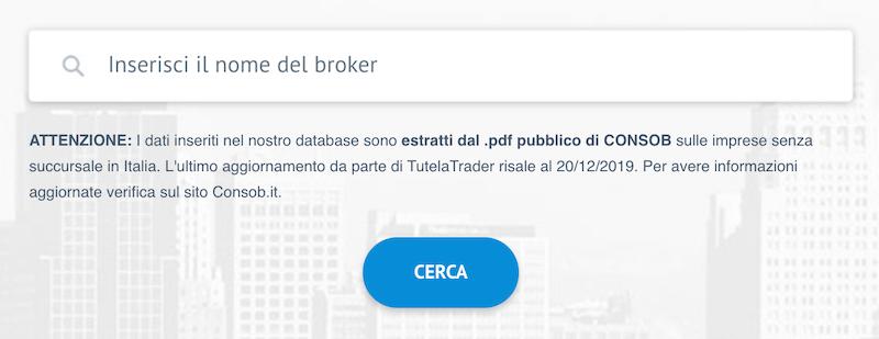 ricerca broker truffa